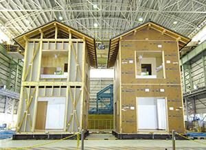 「日本ハウジング」の住宅は耐震性能を上げる為に耐震壁を使用しています