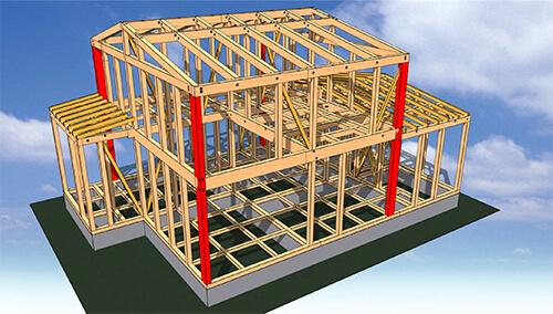 耐震対策の為にCGで構造図を分かりやすく耐震性能をお伝えします