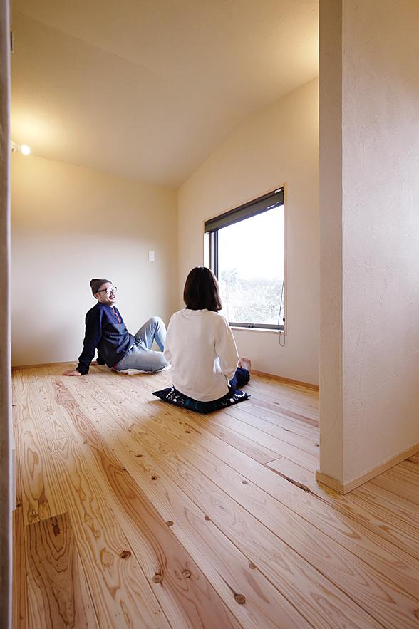 家族でくつろげる癒しの空間も注文住宅で