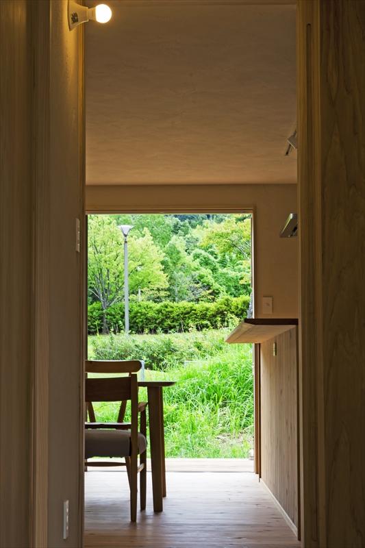 室内から見渡せる外に広がる大自然